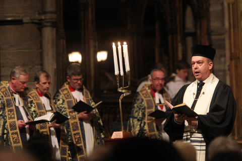 Cantor Heller at Westminster Abbey