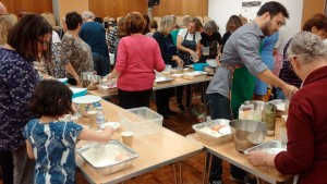 Bake-off challah makers in action