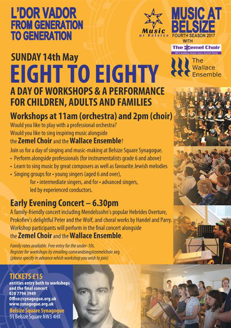 Eight to eighty flyer: workshops and concert