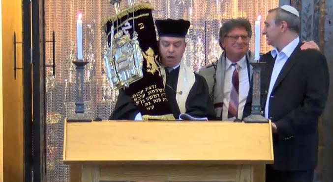 Alexander Torah scroll at 75th anniversary civic service