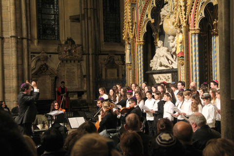 The Belsize Square Youth Choir and Alyth Singers.