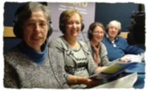 Readers Henny Levin, Jackie Alexander and Eve Herzog and Antony Godfrey record Our Cong
