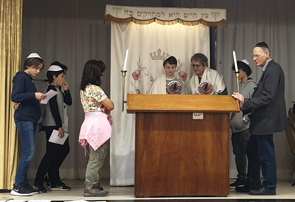 Group of children on the Bimah